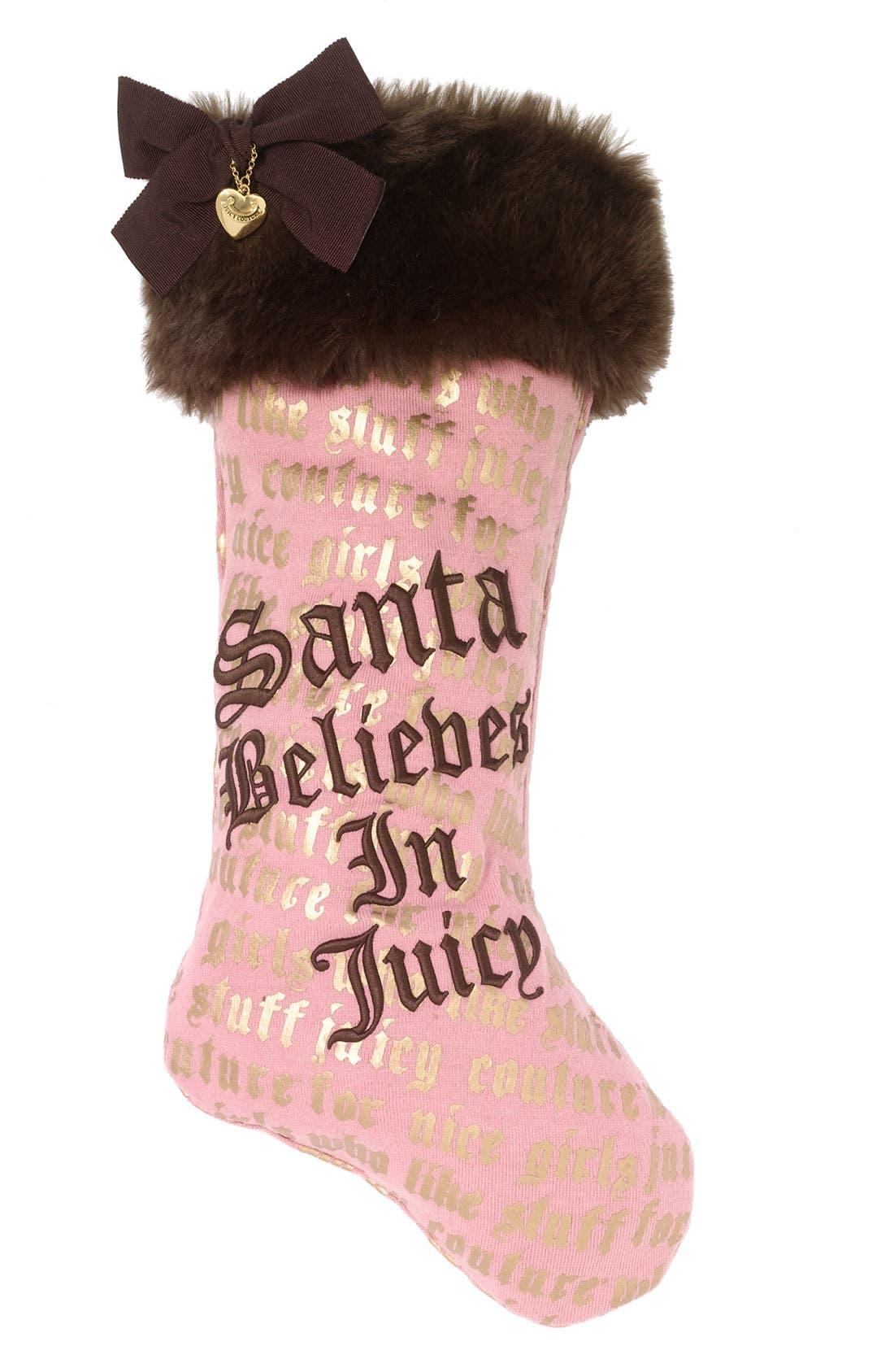 Alternate Image 1 Selected - Juicy Couture 'Santa Believes in Juicy' Holiday Stocking