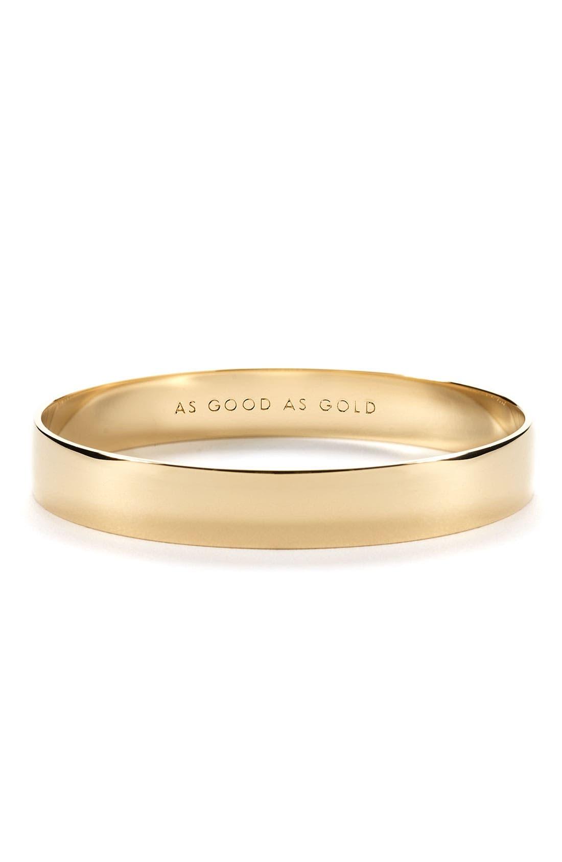 'idiom - good as gold' bangle,                             Main thumbnail 1, color,                             Gold