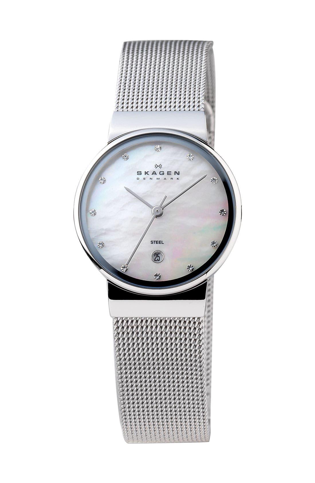 Alternate Image 1 Selected - Skagen Mother-of-Pearl Watch