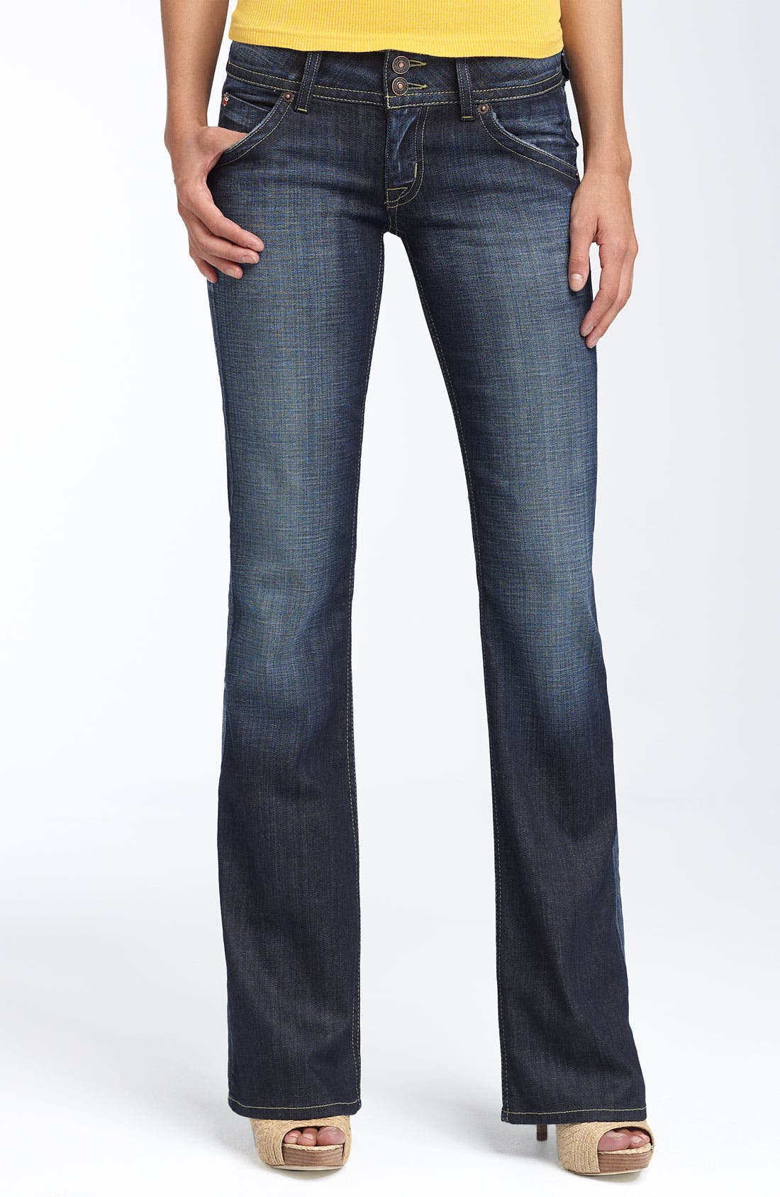 Alternate Image 1 Selected - Hudson Jeans Signature Flap Pocket Bootcut Jeans (Elm)