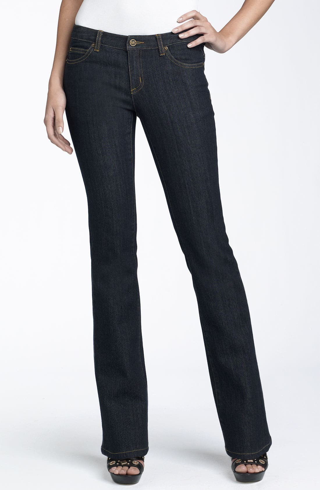 Alternate Image 1 Selected - MICHAEL Michael Kors 'Sausalito' Stretch Demin Flare Jeans (Petite)