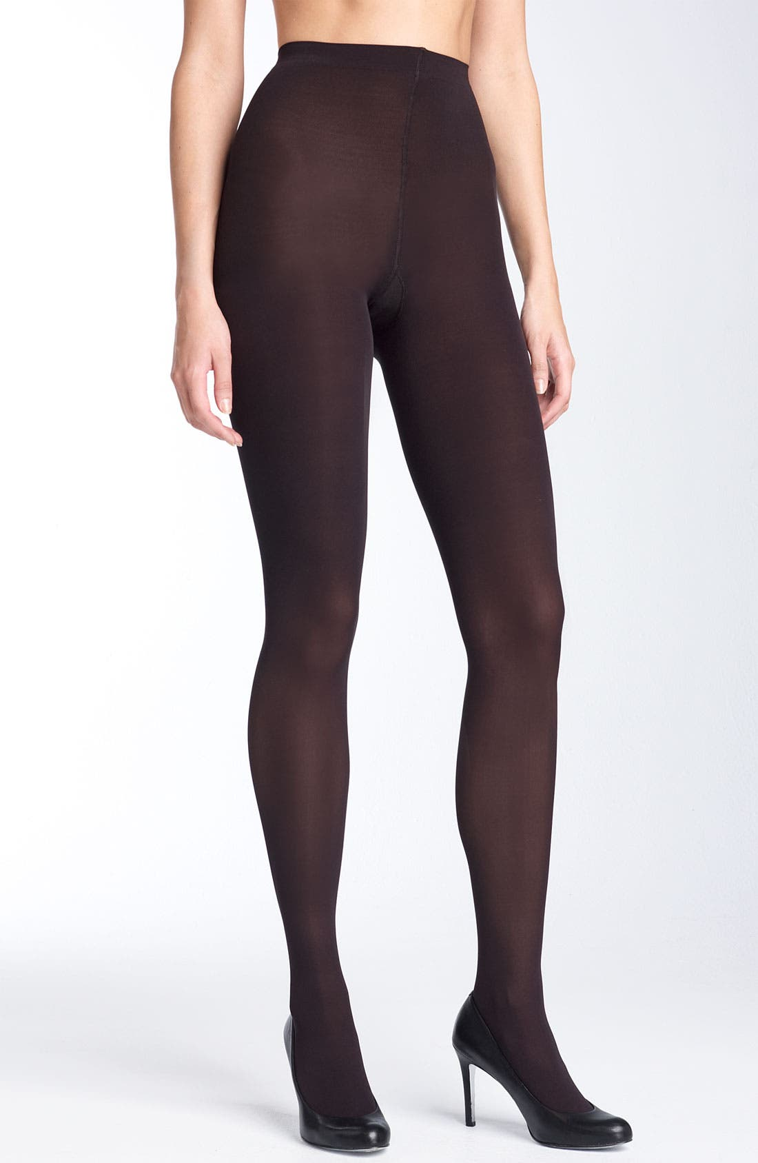 Main Image - Donna Karan Sueded Jersey Control Top Tights