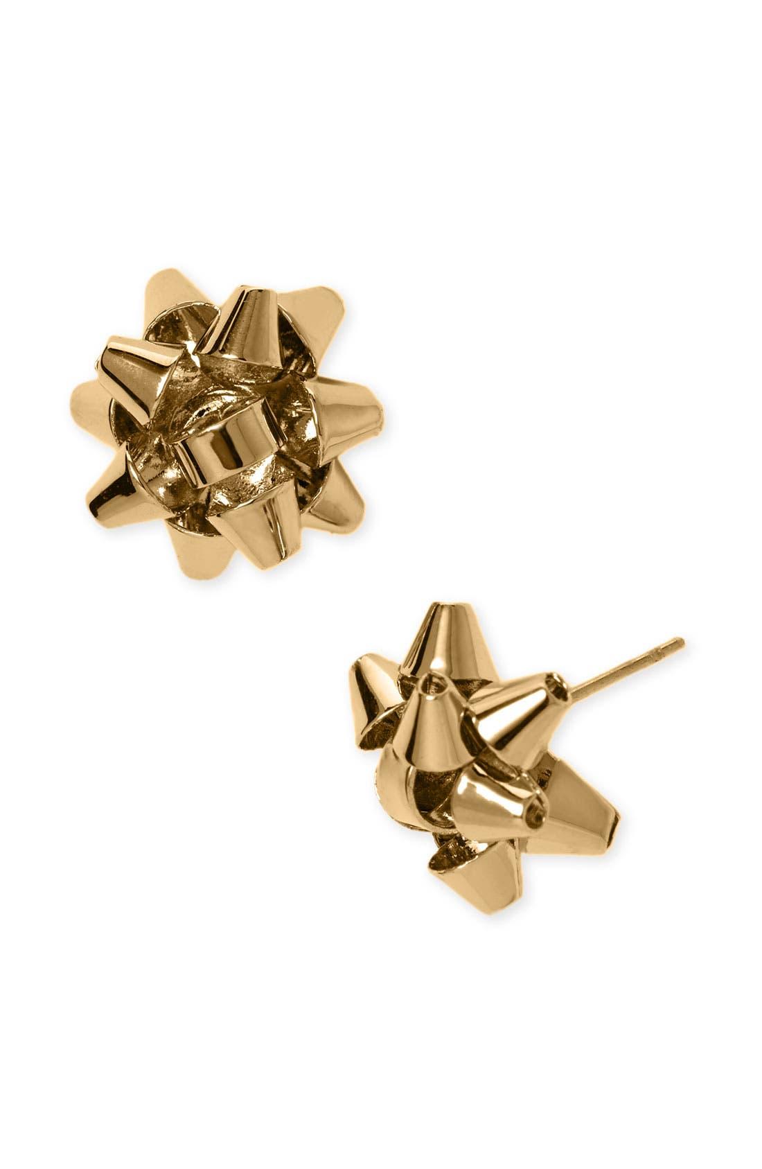 kate spade 'bourgeois bow' stud earrings,                             Main thumbnail 1, color,                             Gold