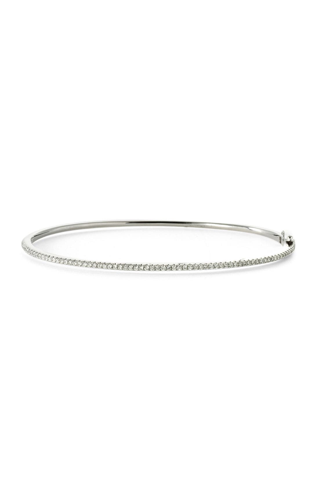 Main Image - Bony Levy Skinny Stackable Diamond Bangle (Nordstrom Exclusive)