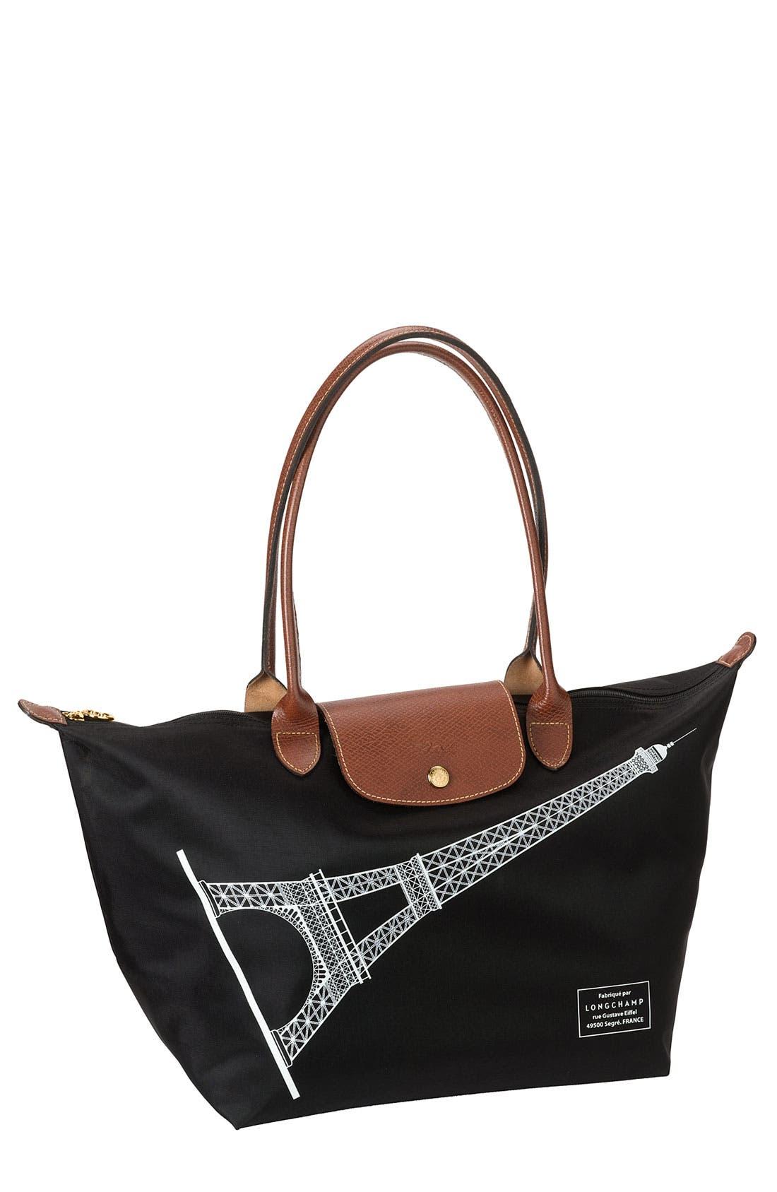 Main Image - Longchamp 'Pliage Tour - Eiffel' Tote