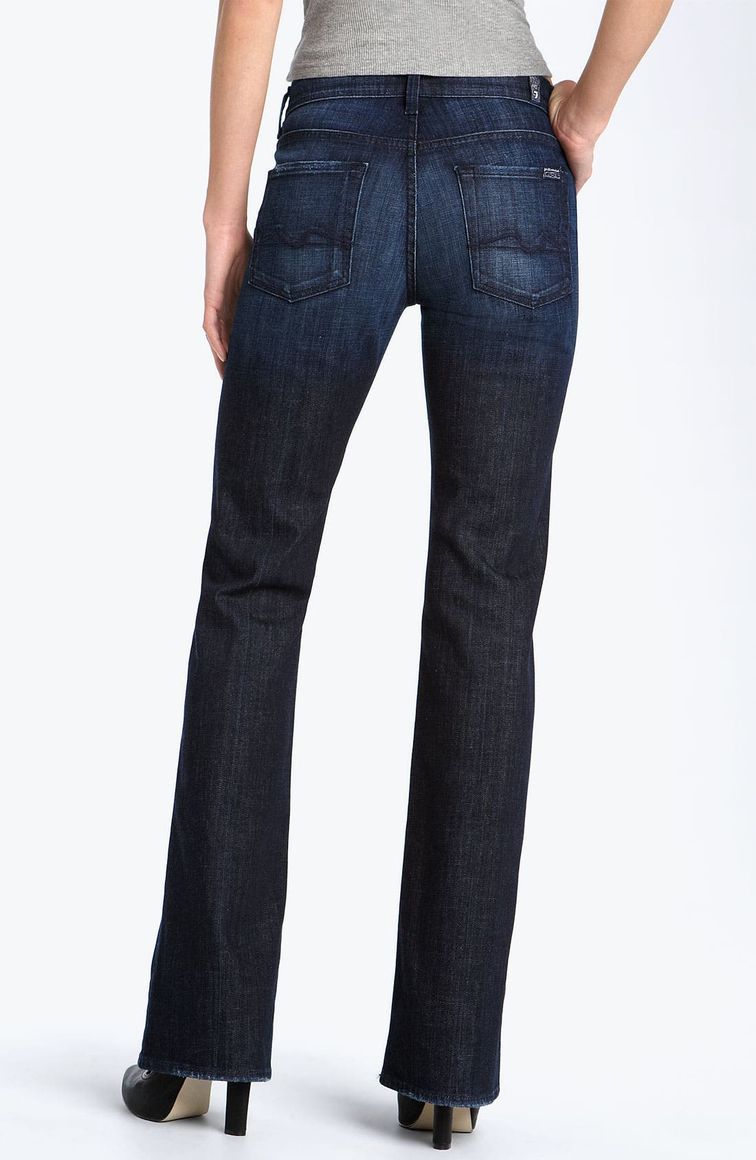 Alternate Image 2  - 7 For All Mankind® Mid Rise Bootcut Stretch Jeans (Los Angeles Dark)
