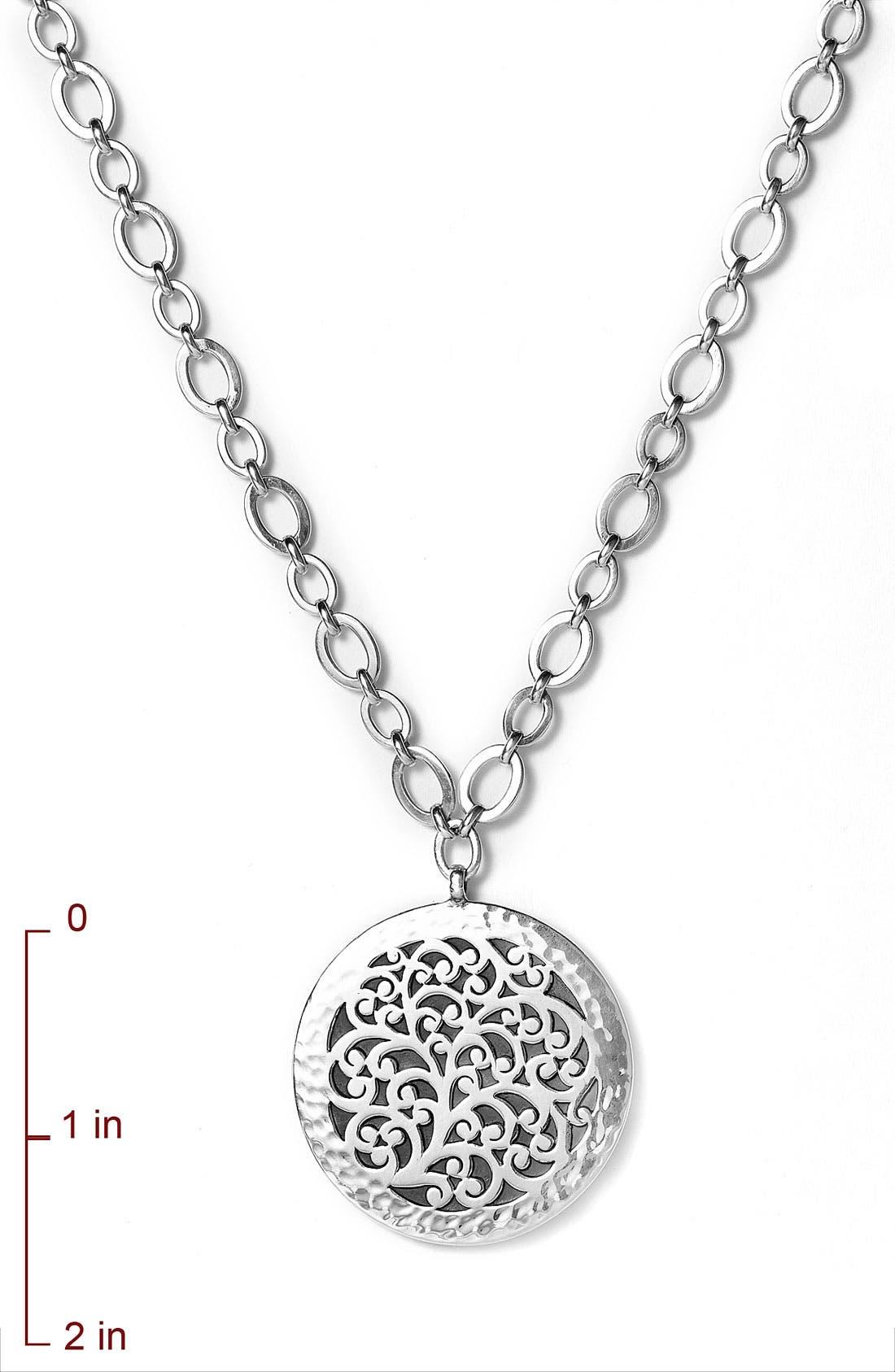 Alternate Image 2  - Lois Hill Large Disc Pendant Necklace