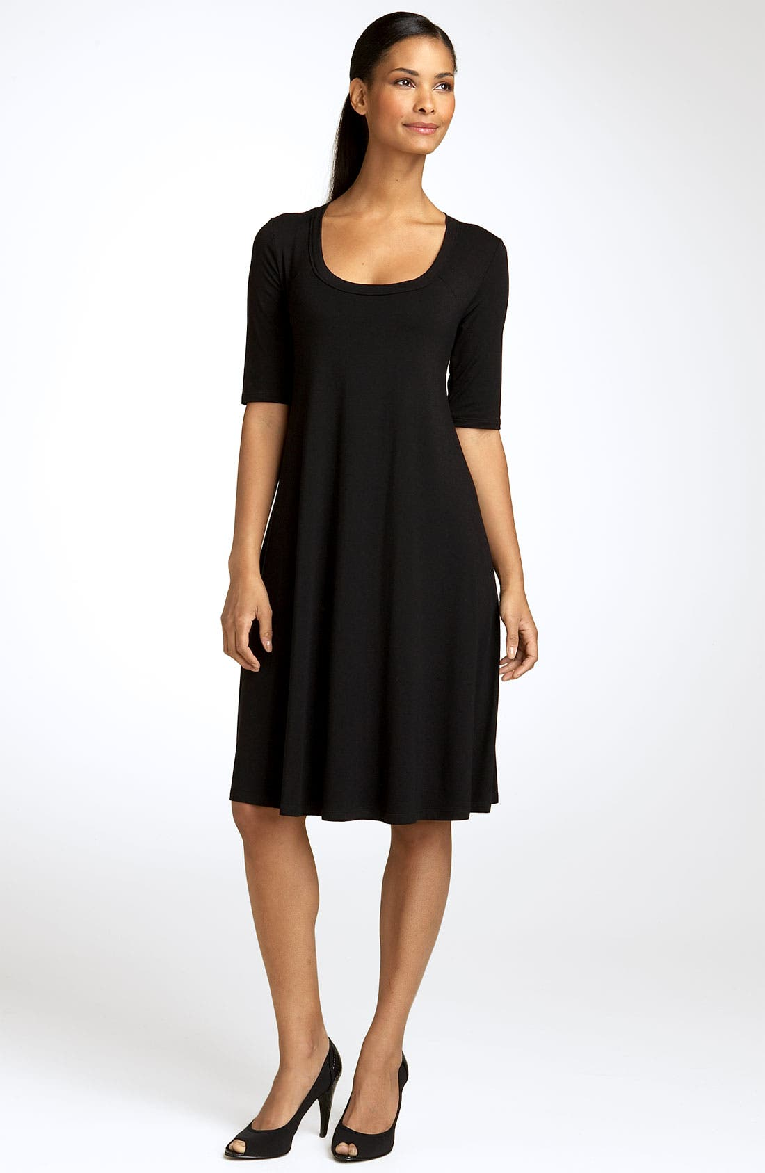 A-Line Dress,                             Main thumbnail 1, color,                             Black