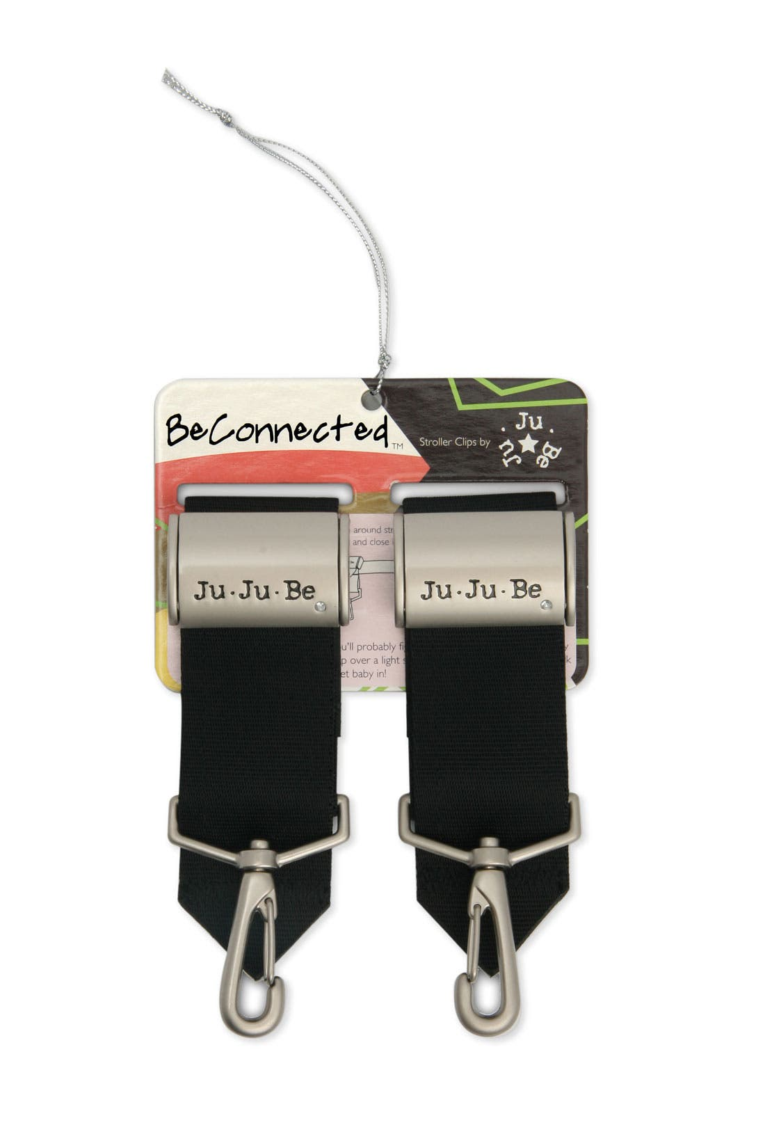 'Be Connected' Diaper Bag Clips,                             Main thumbnail 1, color,                             Silver