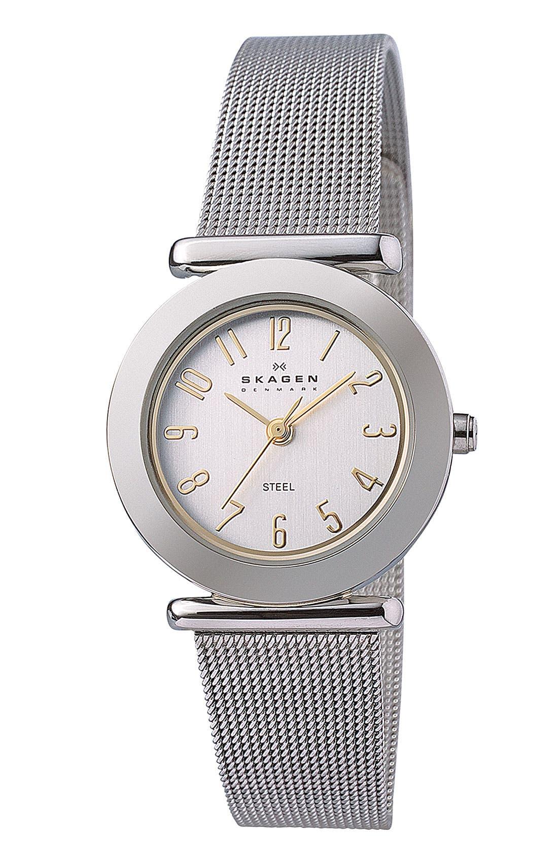 Main Image - Skagen Ladies' Mesh Strap Watch