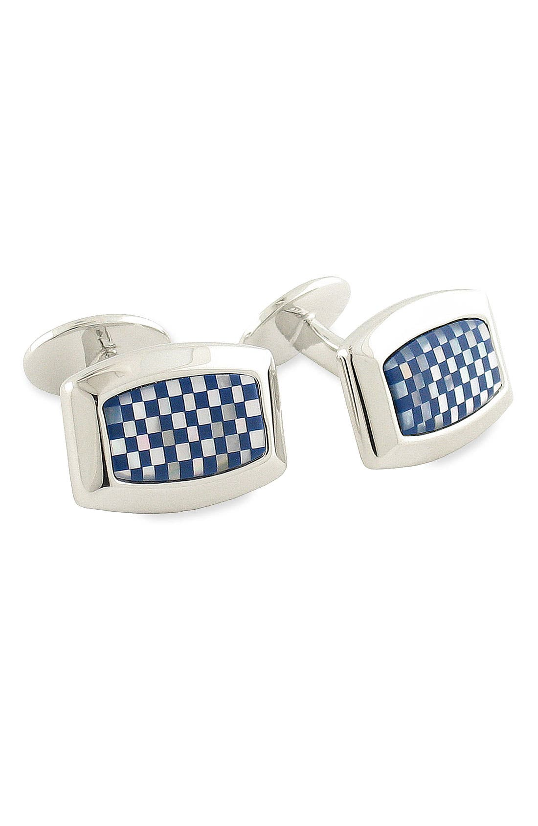 Alternate Image 1 Selected - David Donahue Check Pattern Cuff Links