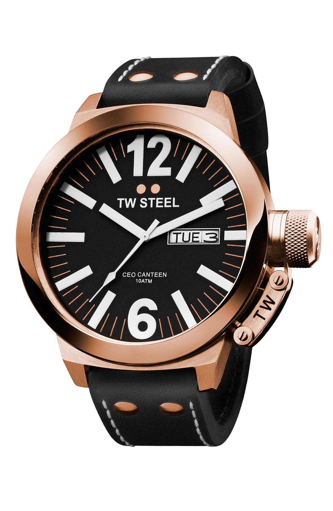 Alternate Image 1 Selected - TW Steel Rose Gold Watch