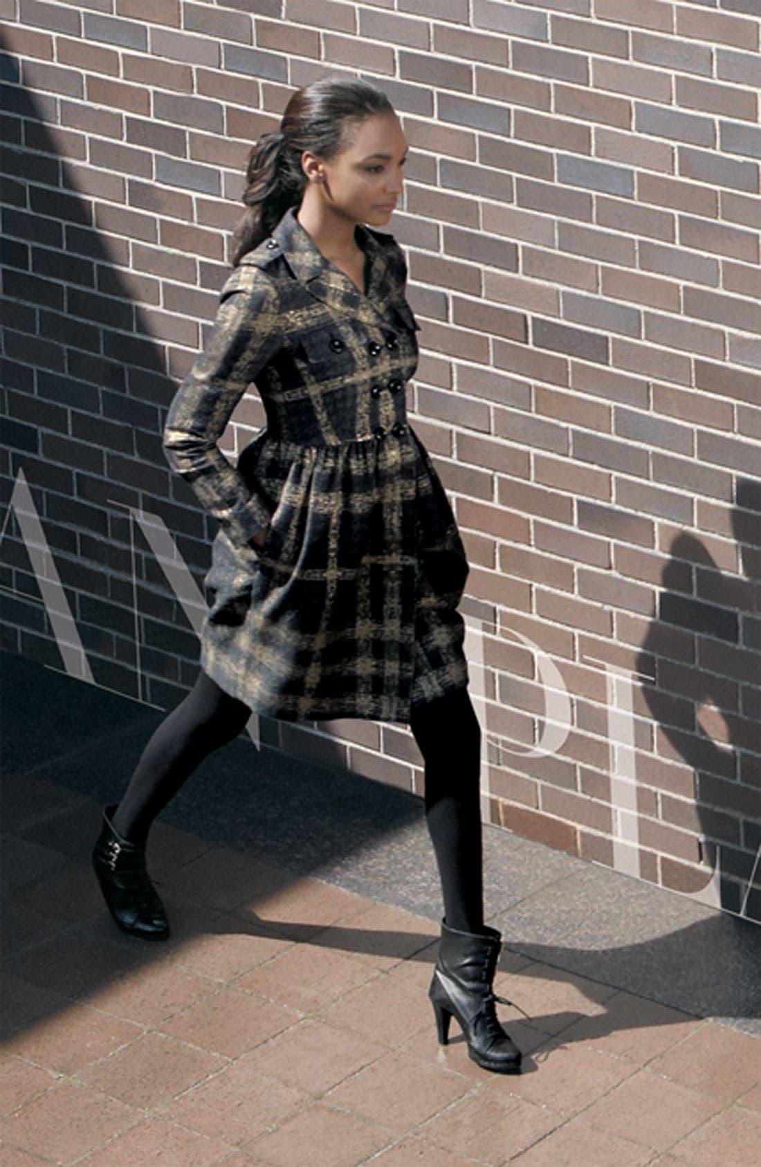 Alternate Image 3  - Burberry London Shimmer Check Trench Coat