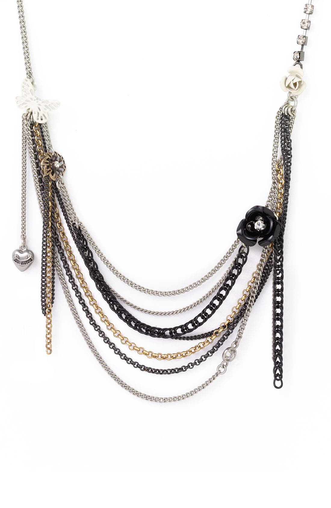 Main Image - Juicy Couture 'After Hours - Butterfly Swag' Multi Chain Necklace