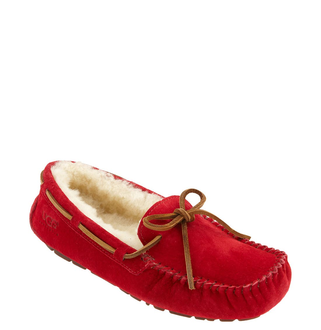 Dakota Slipper,                             Main thumbnail 1, color,                             Jester Red