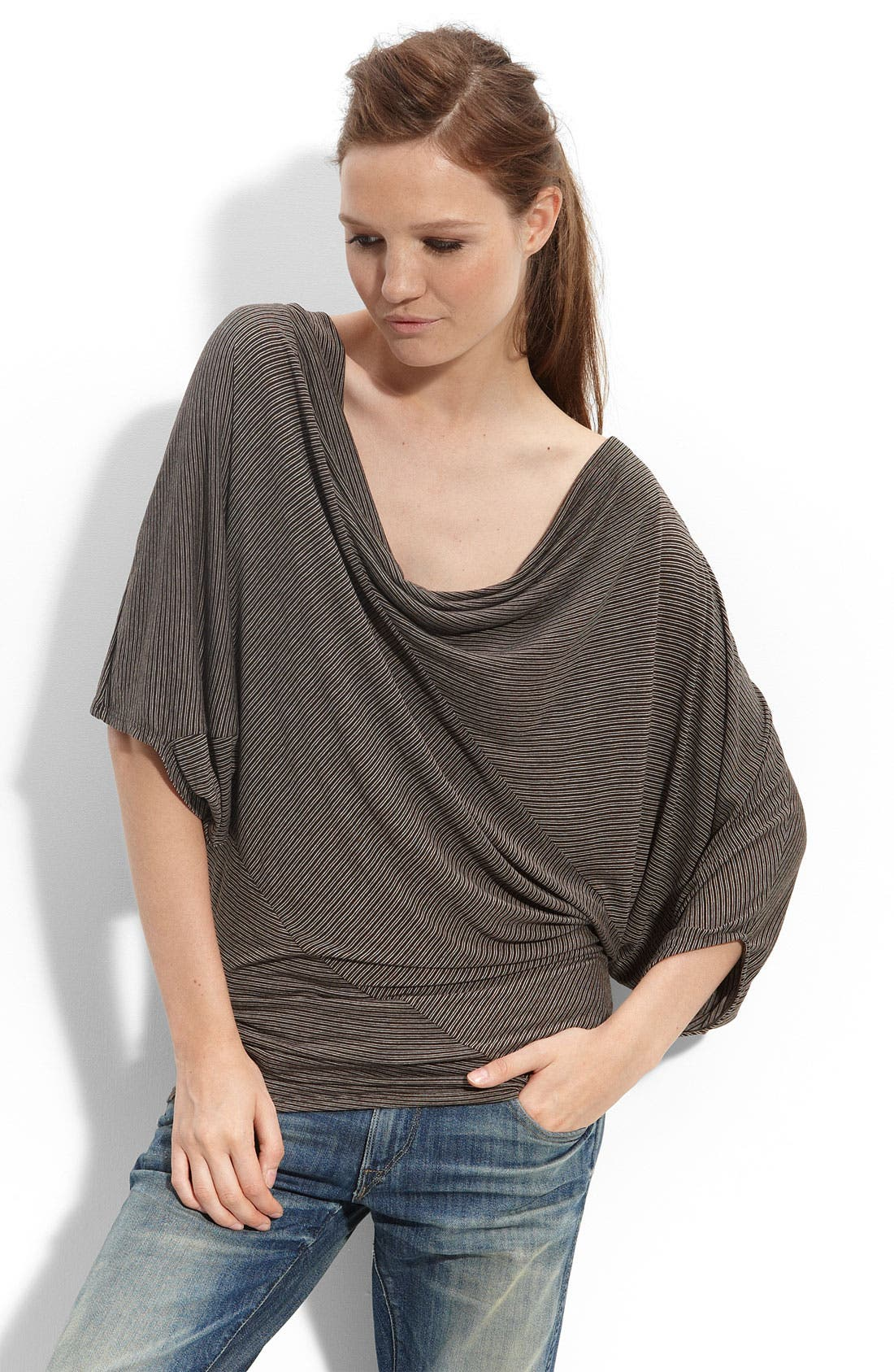 Main Image - Ella Moss 'Eternity' Asymmetrical Stripe Top
