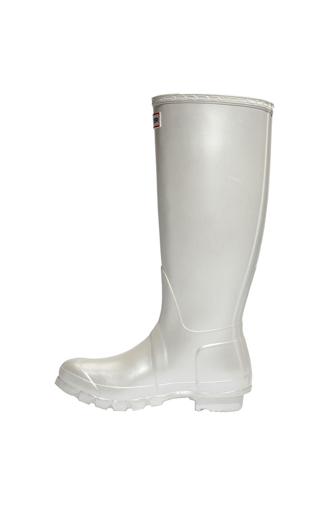 Alternate Image 2  - Hunter 'Original Tall' Metallic Rain Boot (Women)