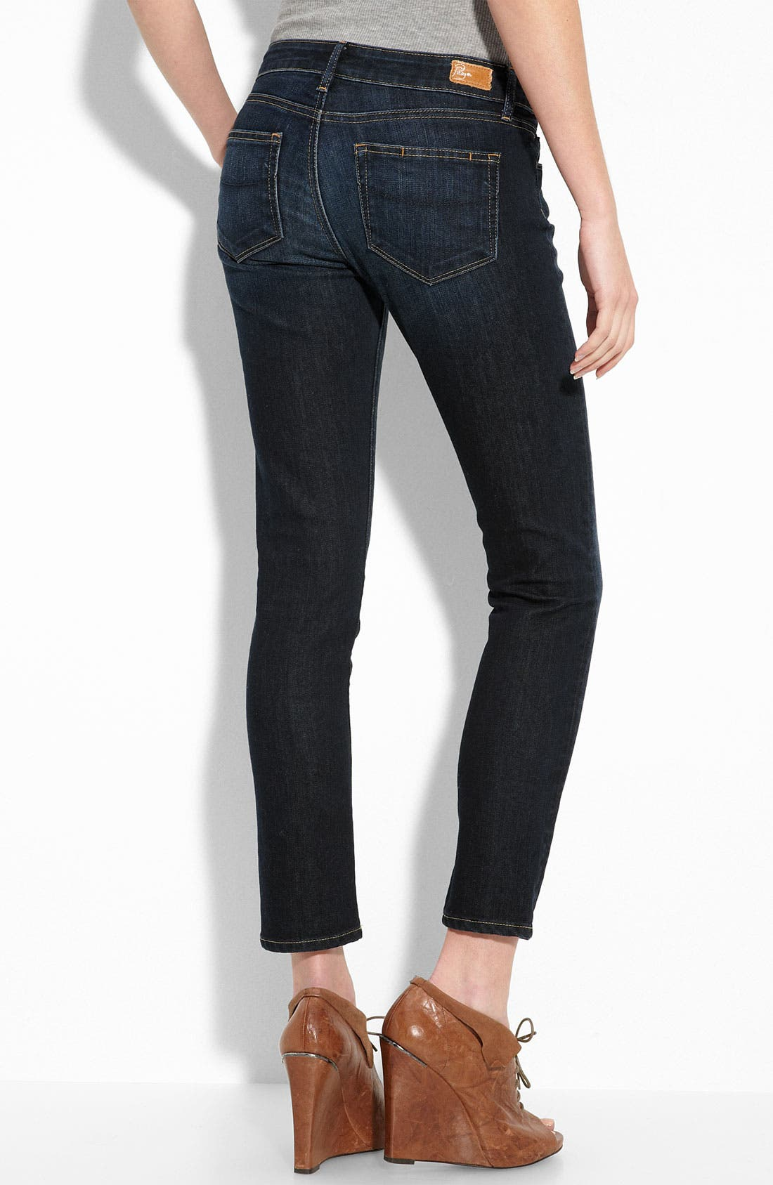Denim 'Skyline' Ankle Peg Skinny Stretch Jeans,                             Alternate thumbnail 2, color,                             Super Rebellious