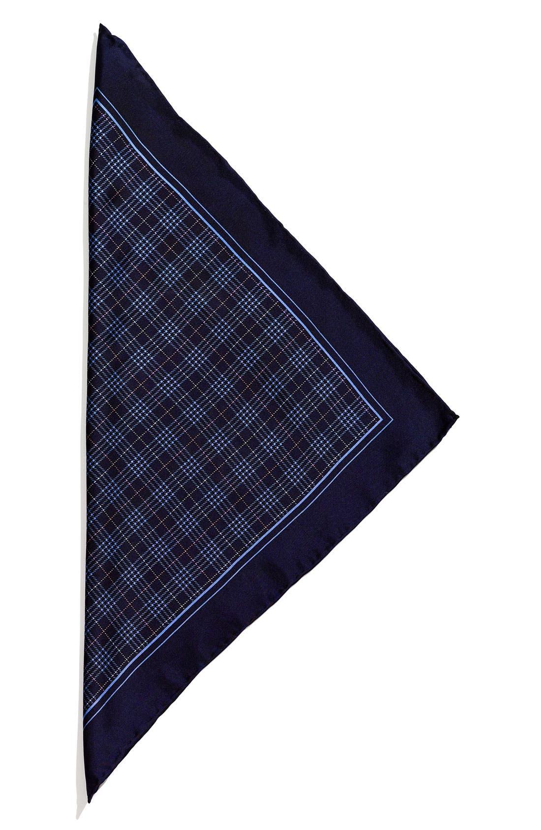 Alternate Image 1 Selected - John W. Nordstrom® Plaid Silk Pocket Square