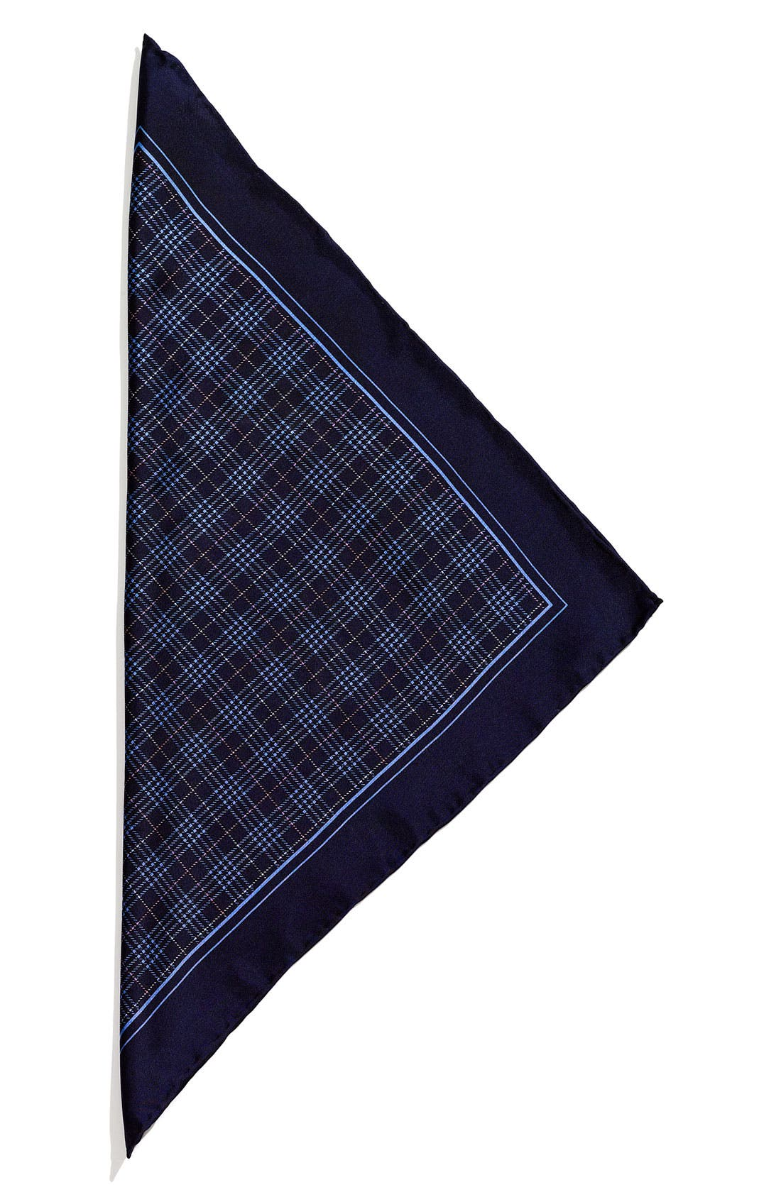 Main Image - John W. Nordstrom® Plaid Silk Pocket Square