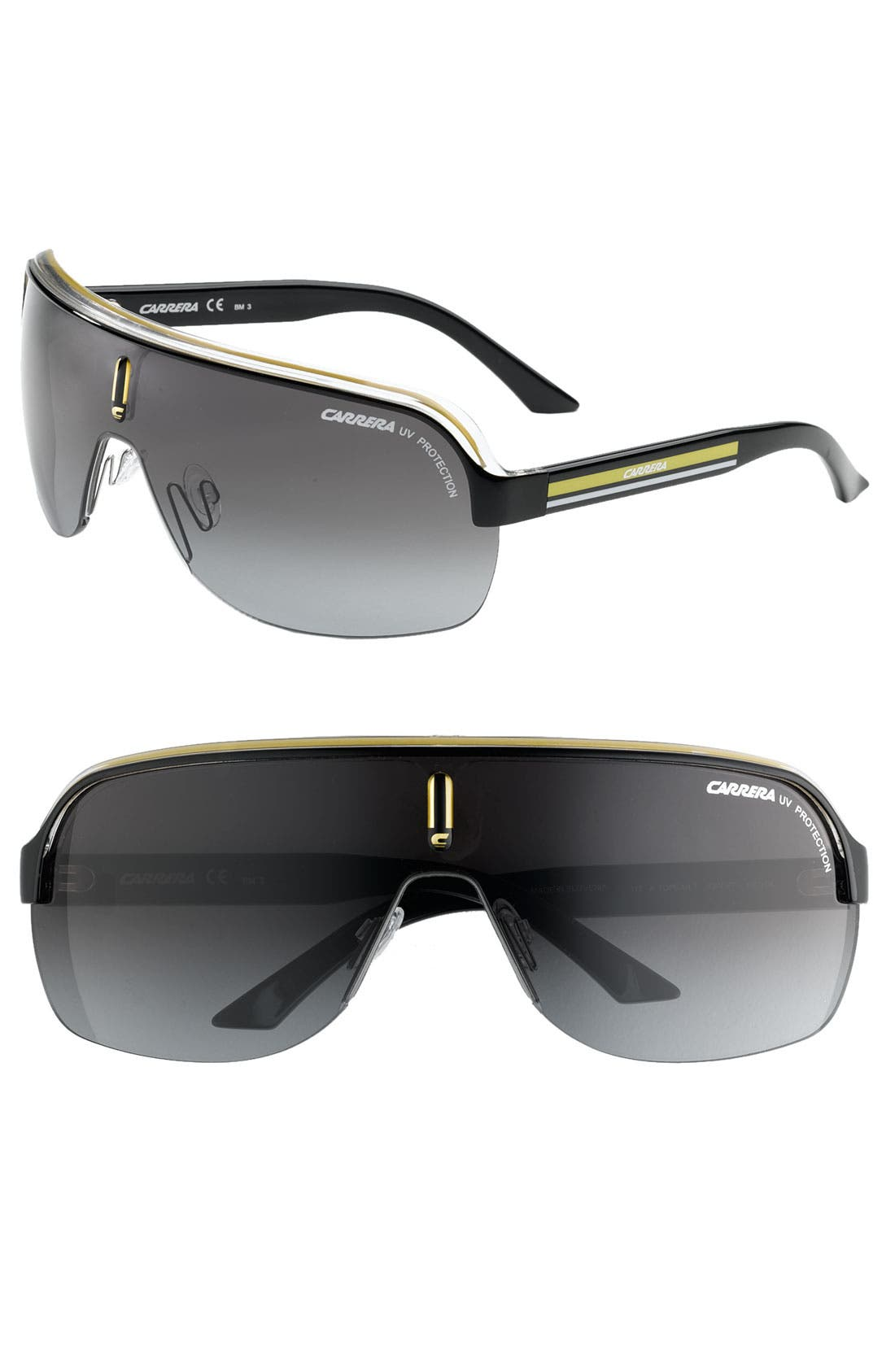 Alternate Image 1 Selected - Carrera Eyewear 99mm Shield Sunglasses