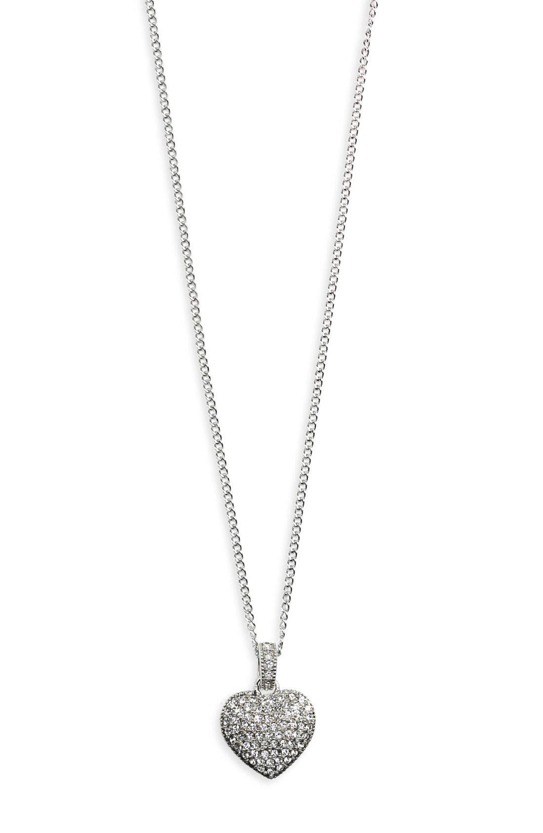 Judith Jack Reversible Pavé Heart Pendant Necklace