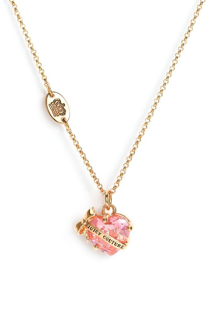 juicy couture 39 wish 39 faceted heart necklace nordstrom