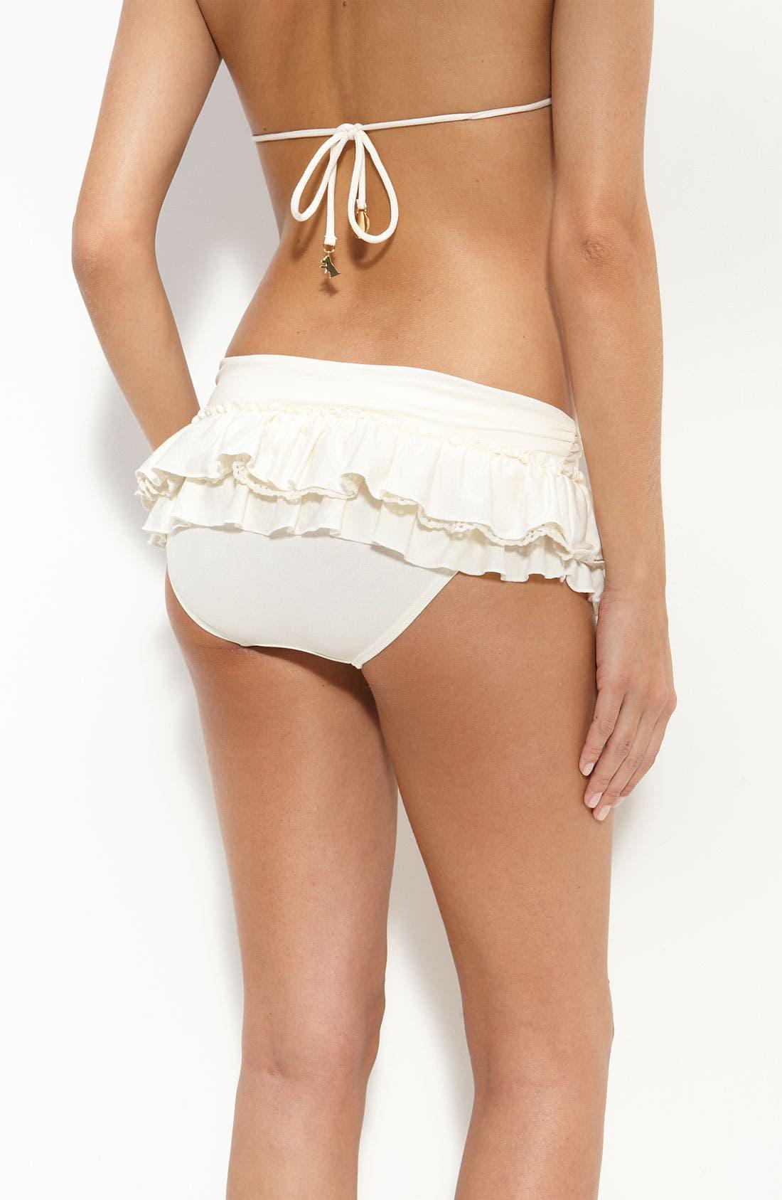 Alternate Image 2  - Juicy Couture Beach Ruffle Bikini Bottoms