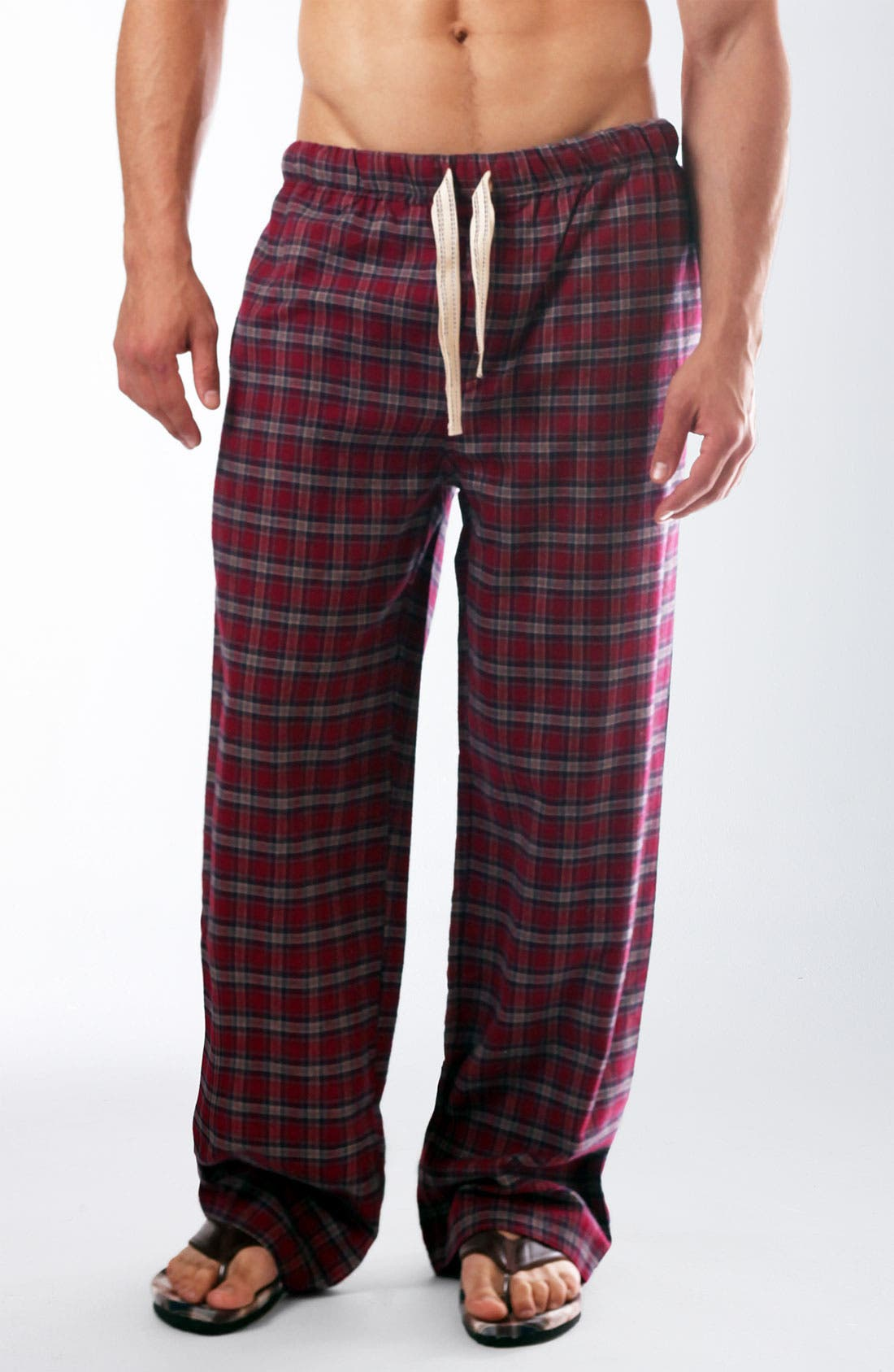 Alternate Image 1 Selected - Bottoms Out Flannel Lounge Pants