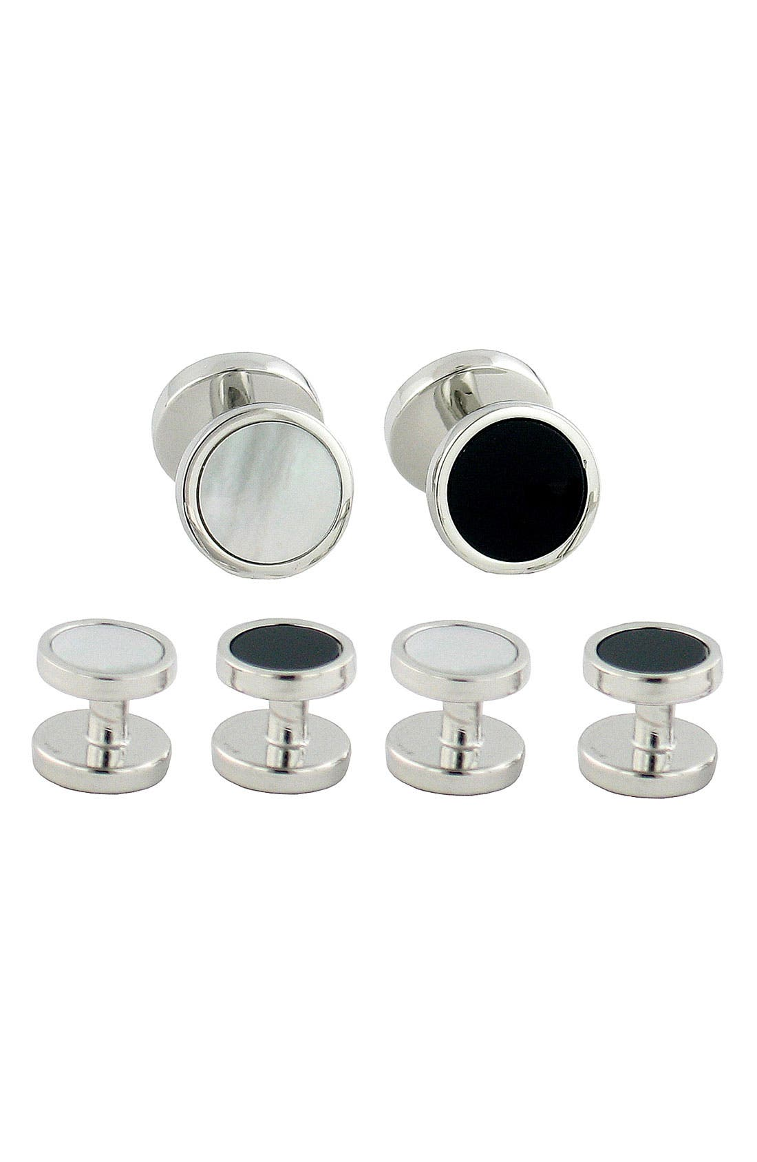 Reversible Cuff Link & Stud Set,                         Main,                         color, Reversible Stud