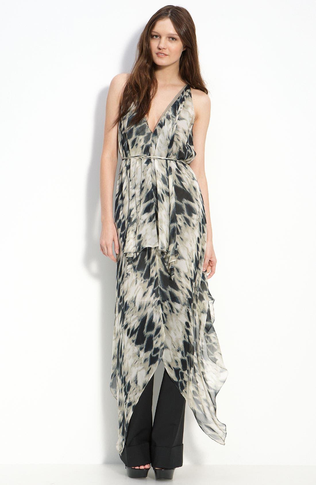 Main Image - Robert Rodriguez Racerback Silk Dress