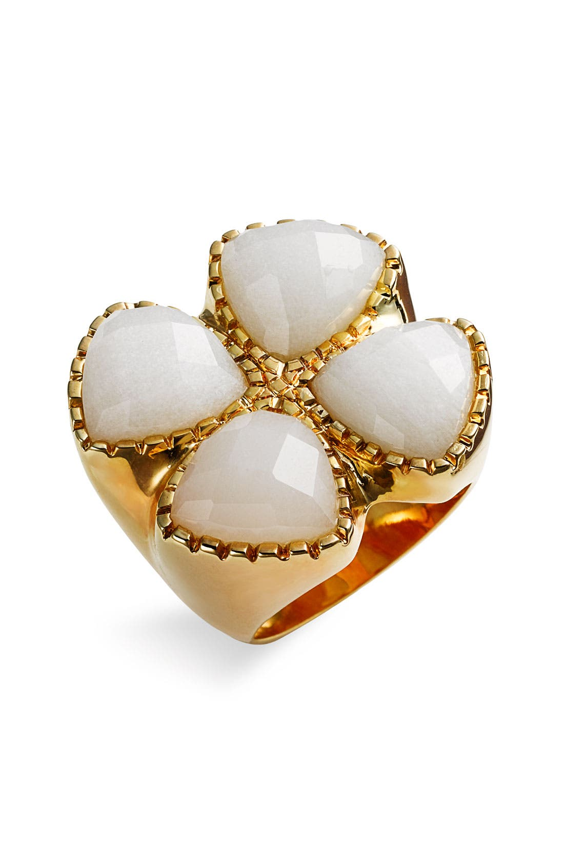Alternate Image 1 Selected - Ariella Collection Clover Cat's Eye Ring