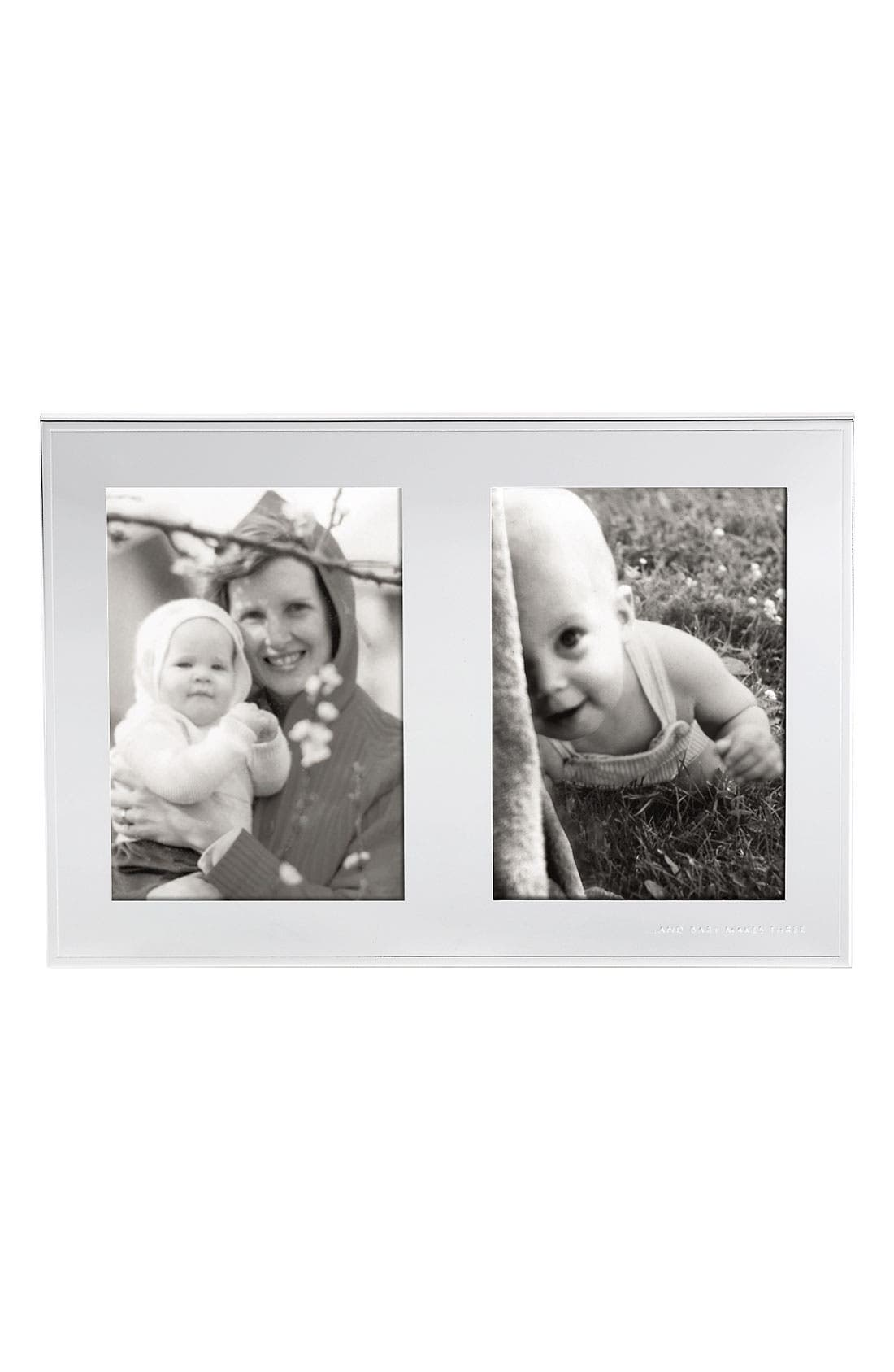 Alternate Image 1 Selected - kate spade new york 'and baby makes three' birth announcement frame