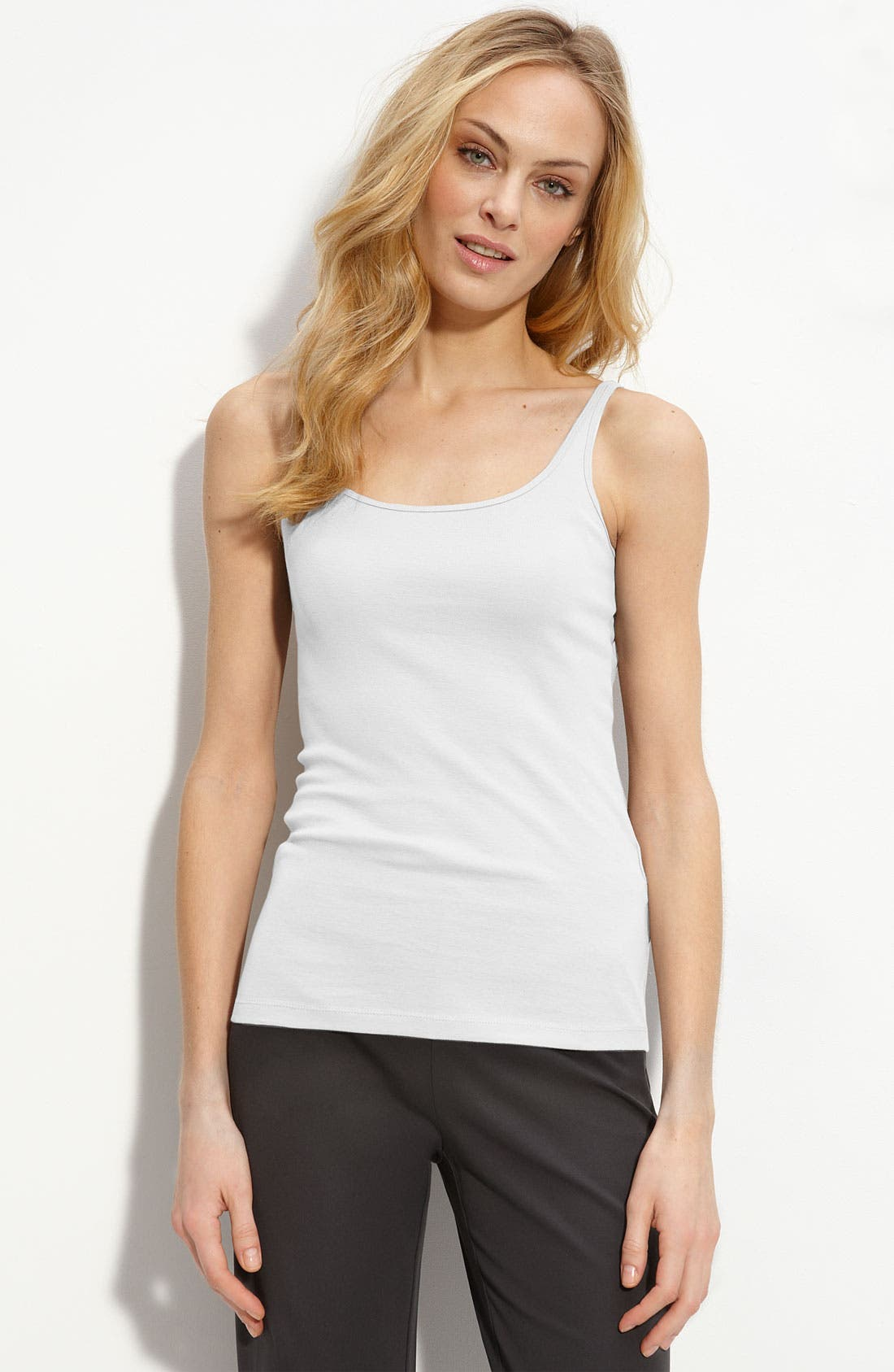 Alternate Image 1 Selected - Eileen Fisher Ribbed Organic Cotton Tank