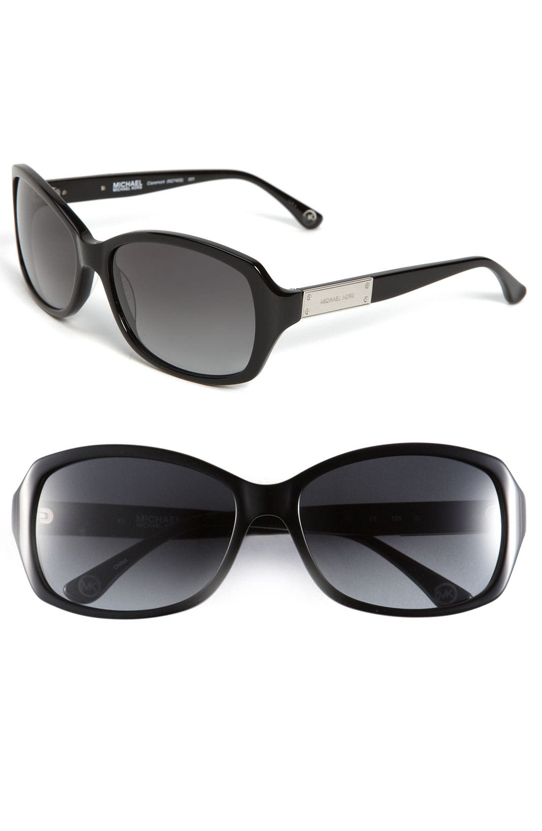 Alternate Image 1 Selected - MICHAEL Michael Kors 'Claremont' 57mm Plaque Logo Sunglasses