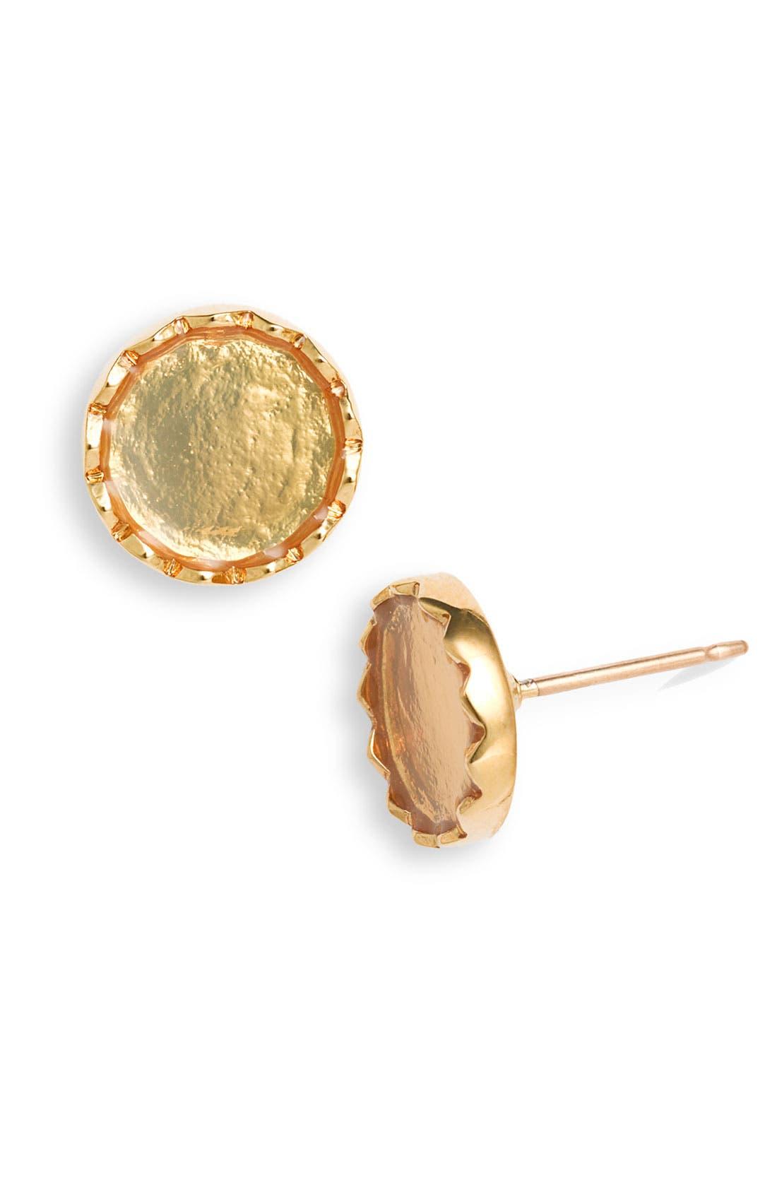 'dot to dot' stud earrings,                         Main,                         color, Gold