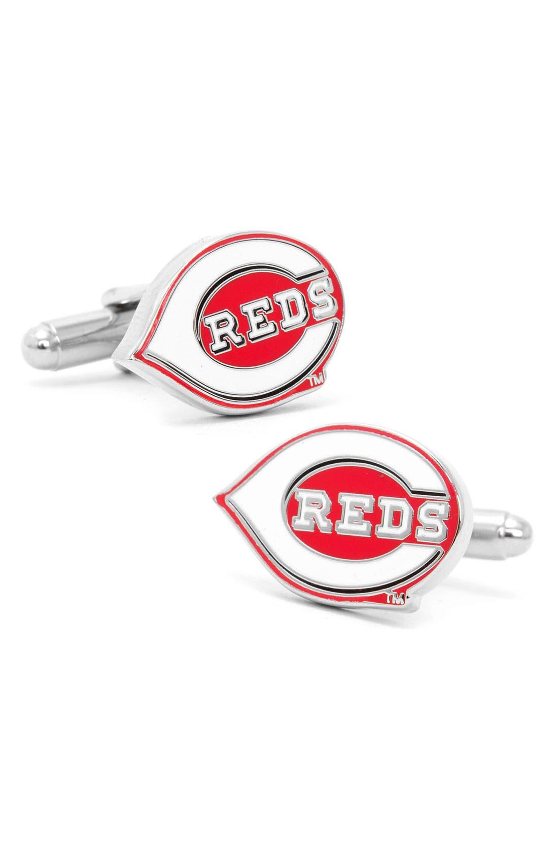 Main Image - Cufflinks, Inc. 'Cincinnati Reds' Cuff Links