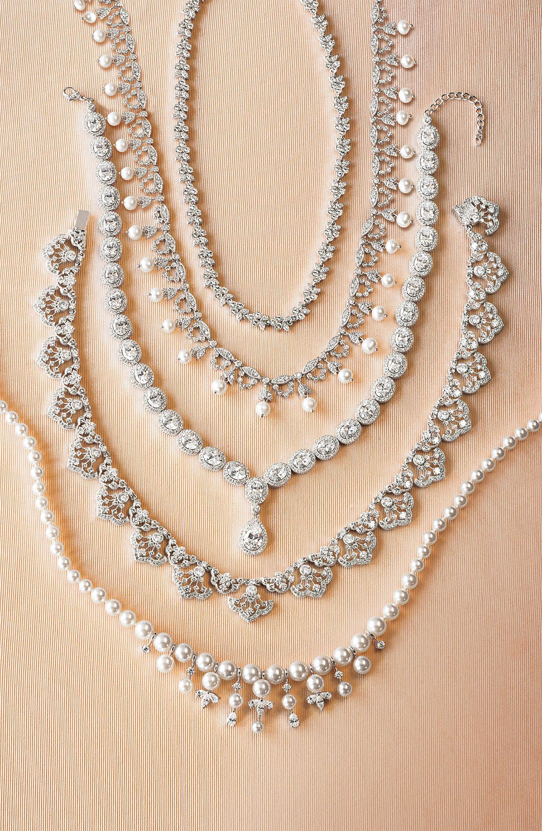 Alternate Image 3  - CZ by Kenneth Jay Lane Glass Pearl Garland Necklace