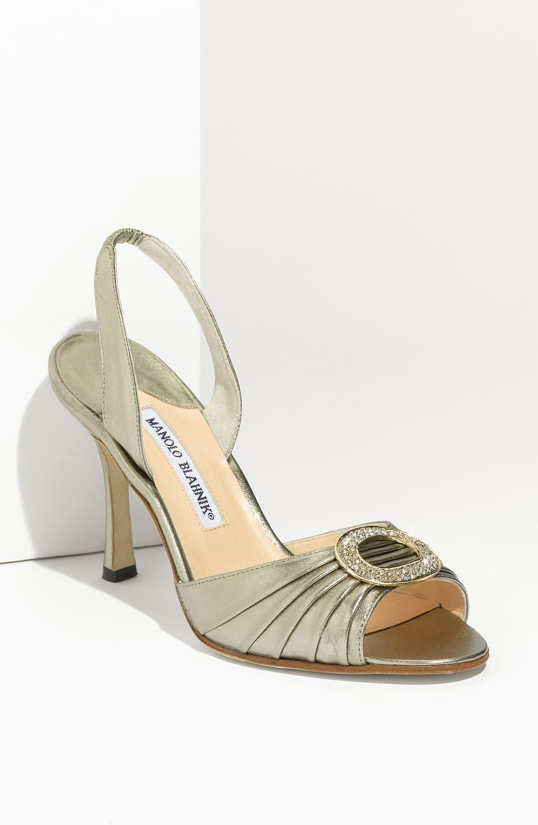 Alternate Image 1 Selected - Manolo Blahnik 'Sedaraby' Embellished Slingback Sandal