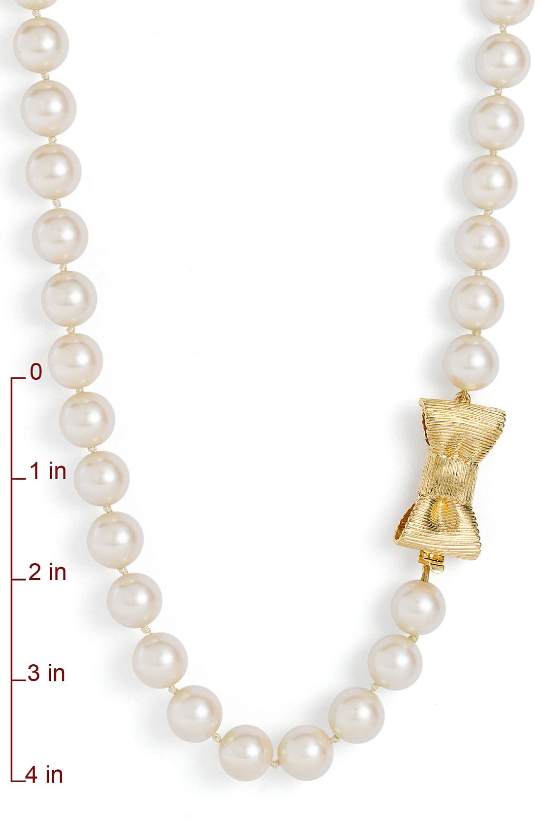 Alternate Image 2  - kate spade new york 'all wrapped up' glass pearl long necklace