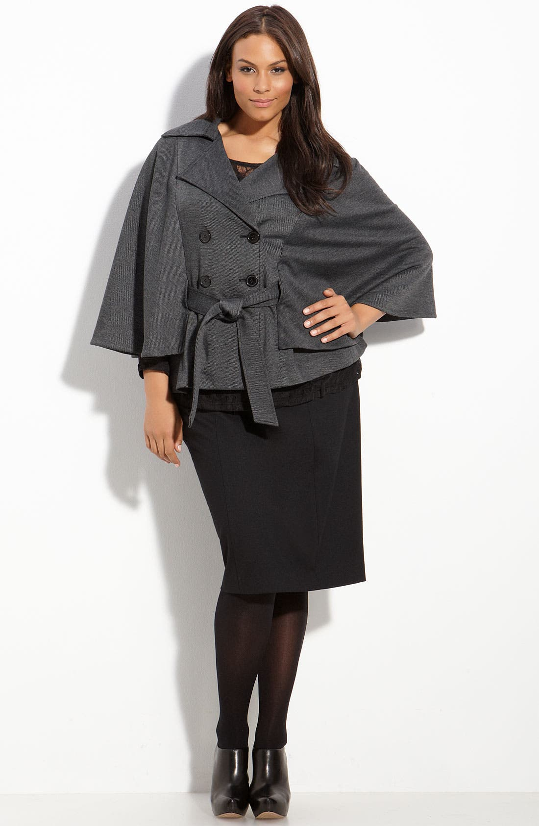 Belted Cape,                             Alternate thumbnail 2, color,