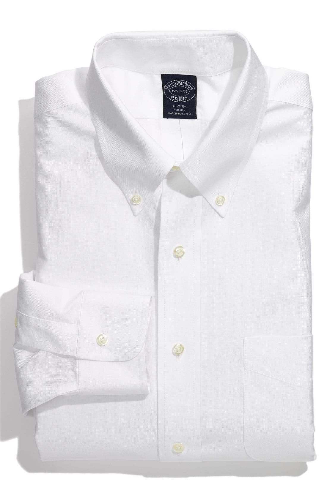 Main Image - Brooks Brothers Non-Iron Oxford Dress Shirt
