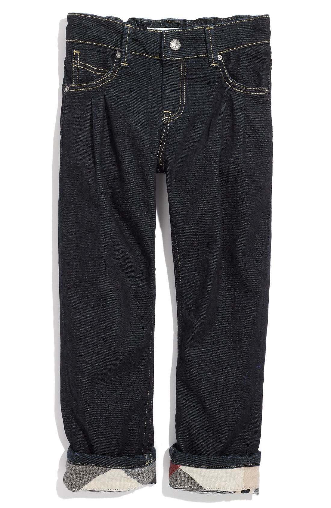 Alternate Image 2  - Burberry Cuff Jeans (Toddler)