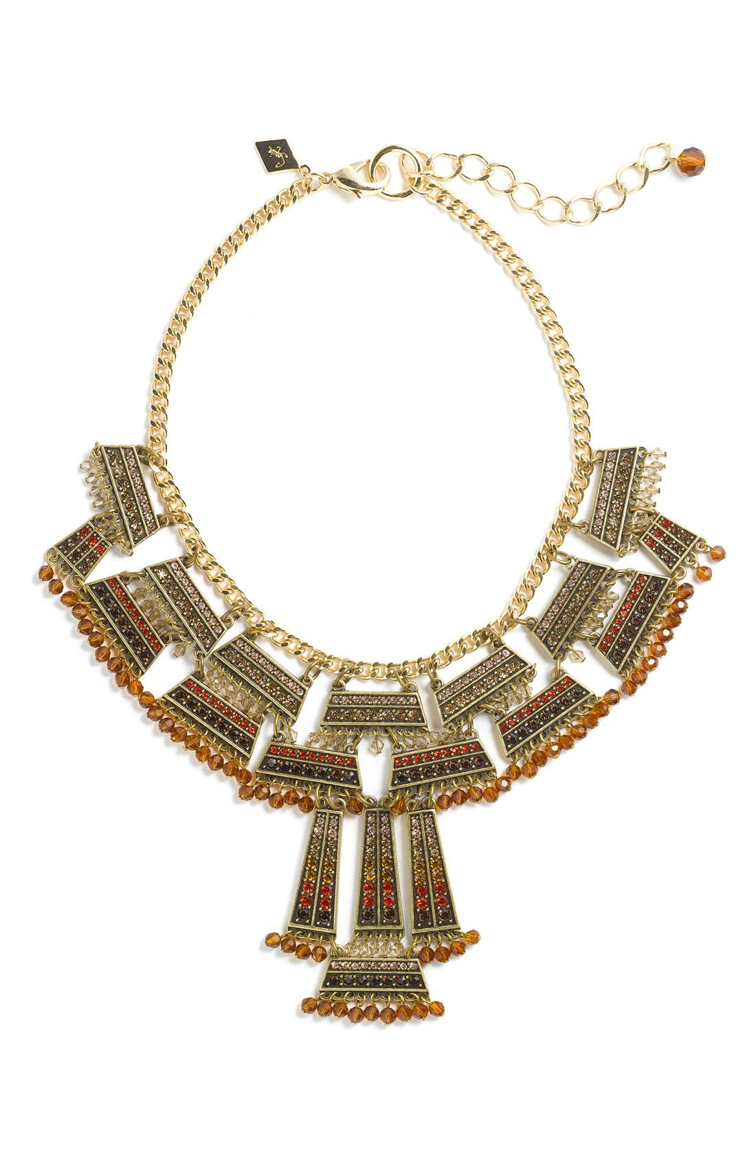 Main Image - Sequin Crystal Frontal Statement Necklace