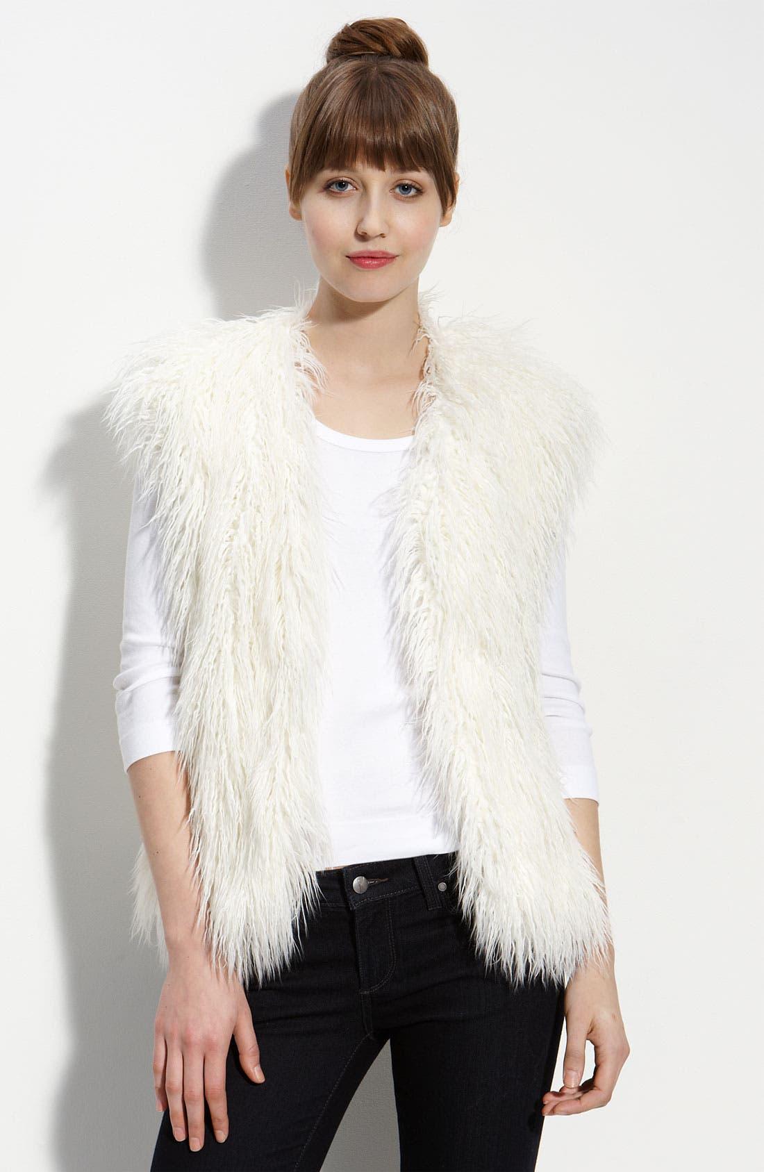 Alternate Image 1 Selected - Damselle Faux Fur Vest