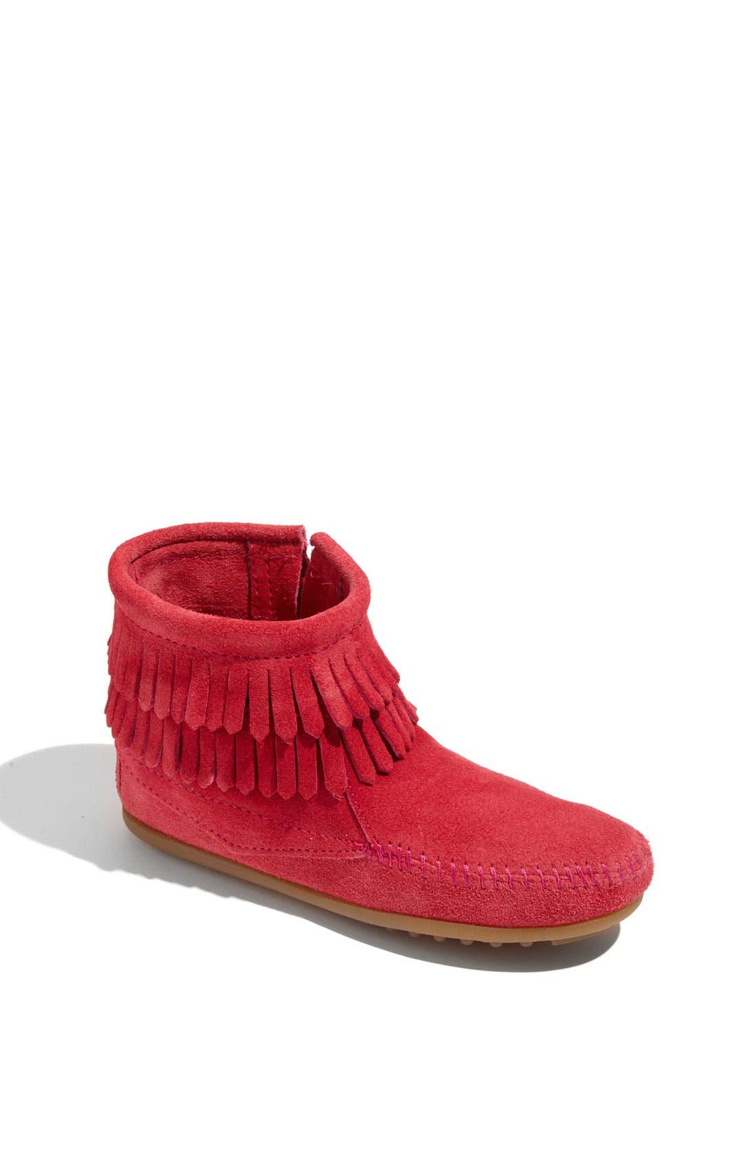 Minnetonka 'Double Fringe' Boot (Walker, Toddler, Little Kid & Big Kid)