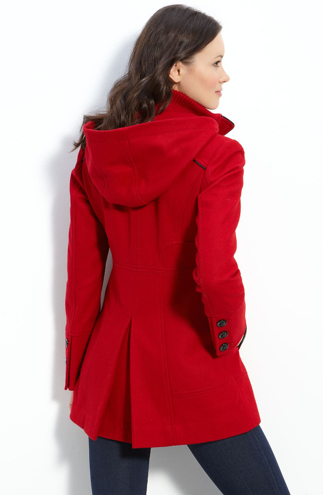 Alternate Image 2  - GUESS Toggle Coat with Detachable Hood