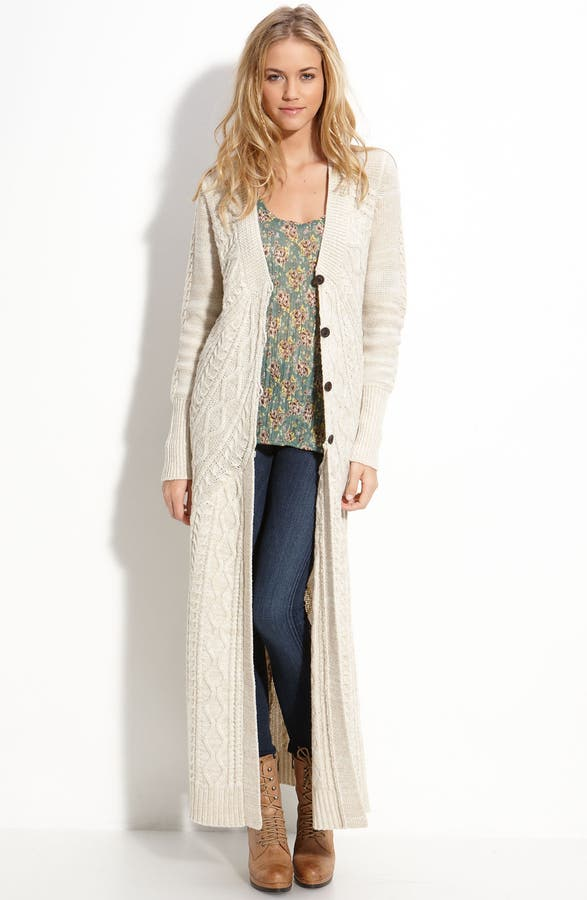 Free People 'Bobble Bee' Maxi Cardigan | Nordstrom