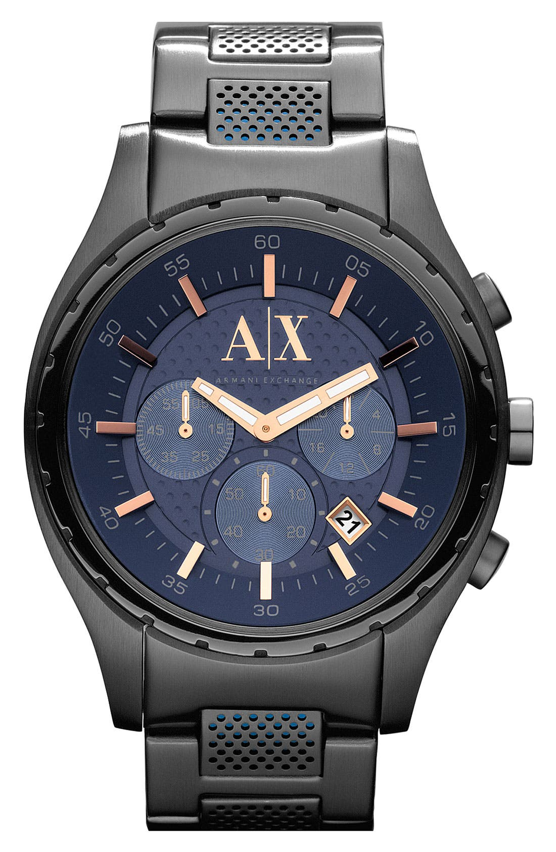 Main Image - AX Armani Exchange Chronograph Bracelet Watch, 45mm