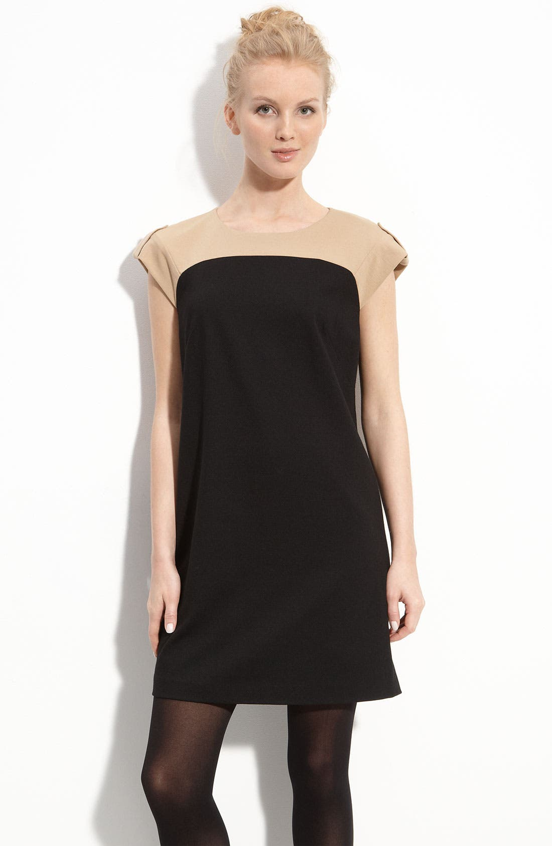 Alternate Image 1 Selected - Vince Camuto 2-Tone Shift Dress